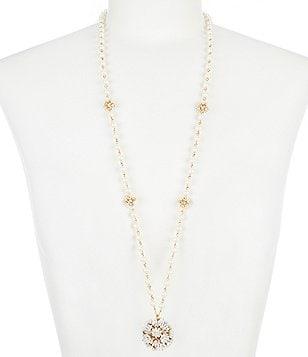 Womens long necklaces dillards kate spade new york pendant necklace aloadofball Gallery