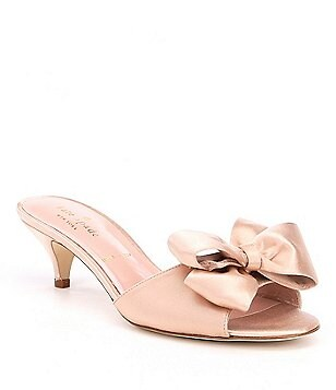 Kate spade bridal womens shoes dillards kate spade new york plaza satin bow detail dress mules junglespirit Image collections