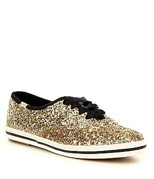 Gold womens bridal wedding shoes dillards keds for kate spade new york glitter keds sneakers junglespirit Choice Image