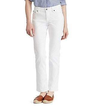 Lauren Jeans Co. Super Stretch Slimming Modern Curvy White Jeans