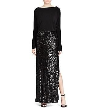 Lauren Ralph Lauren Sequin Skirt Gown