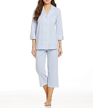 Lauren Ralph Lauren Striped Jersey Pajamas
