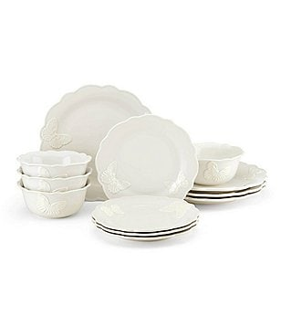 Lenox Butterfly Meadow Carved Vanilla 12-Piece Dinnerware Set  sc 1 st  Dillardu0027s & Lenox Large Casual Dinnerware Sets | Dillardu0027s