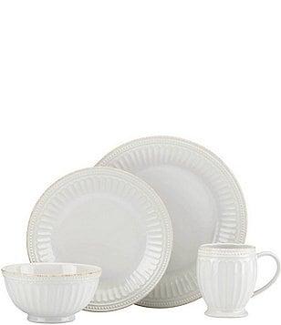 Lenox French Perle Groove 4-Piece Place Setting  sc 1 st  Dillard\u0027s & lenox french perle: Dining \u0026 Hosting: Dinnerware Glassware ...