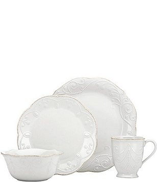 Lenox French Perle Scalloped Stoneware 4-Piece Place Setting & Lenox Casual Everyday Dinnerware: Plates  Dishes u0026 Sets | Dillards