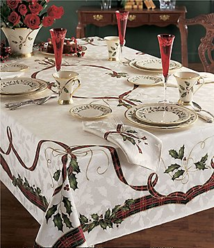 lenox holiday nouveau table linens - Christmas Placemats And Napkins