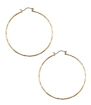 Lucky Brand Big Hammered Hoop Earrings
