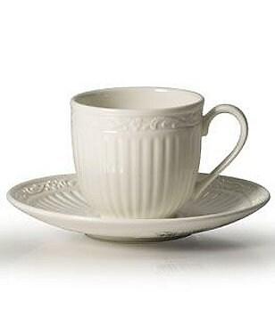 Mikasa Italian Countryside Ridged Fl Stoneware Espresso Cup Saucer Set