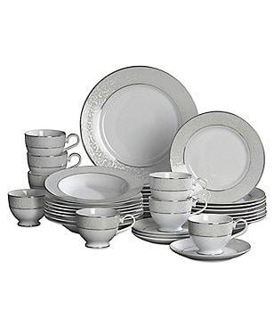 Mikasa Parchment Ivy Scroll Platinum Porcelain 40-Piece China Set  sc 1 st  Dillard\u0027s & Mikasa Dining \u0026 Hosting: Dinnerware Glassware \u0026 Serveware   Dillards