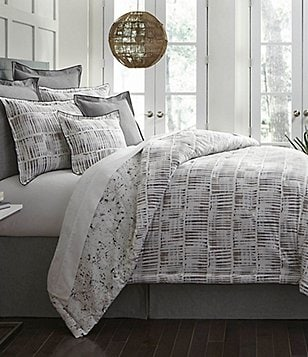 moderne by noble excellence apollo striped u0026 splattered comforter mini set
