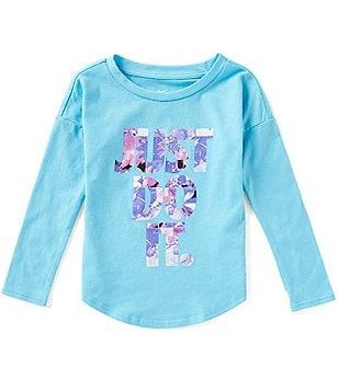 Nike Little Girls 2T-6X Flower Jams Long-Sleeve Tee Image