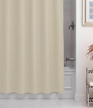 Noble Excellence Pierce Microfiber Shower Curtain Liner