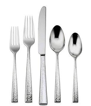 oneida cabria hammered 45piece stainless steel flatware set