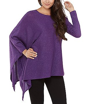 Purple Women's Poncho Sweaters | Dillards