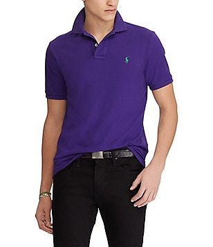 Polo Ralph Lauren Custom-Slim Fit Solid Mesh Polo Shirt