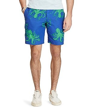 Polo Ralph Lauren Kailua Octopus Print Swim Trunks
