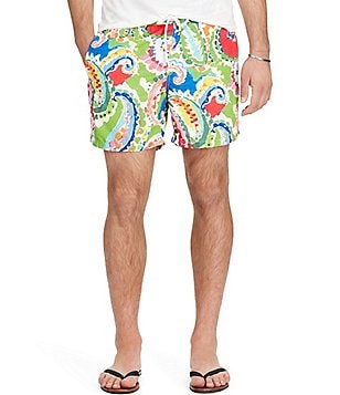 Polo Ralph Lauren Traveler Water Color Paisley Swim Trunks