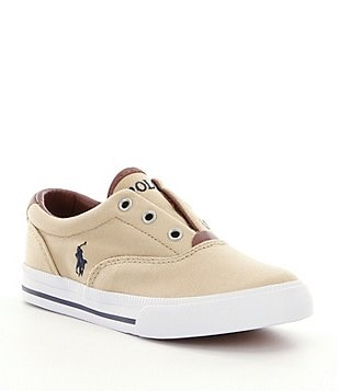 Polo Ralph Lauren Boys\u0027 Vito II Canvas Sneakers