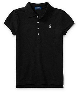 Ralph Lauren Childrenswear Big Girls 7-16 Short-Sleeve Mesh Polo Shirt