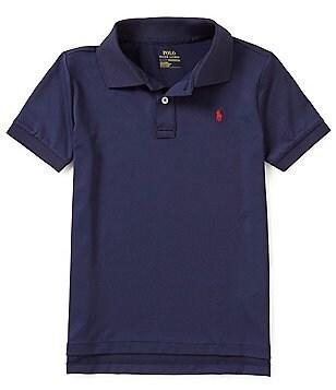 Ralph Lauren Childrenswear Little Boys 5-7 Lisle Solid Short-Sleeve Polo  Shirt