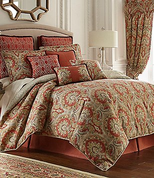 Beau Rose Tree Harrogate Paisley Damask U0026 Geometric Diamond Comforter Set