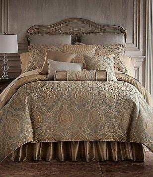 Elegant Rose Tree Norwich Damask U0026 Striped Comforter Set