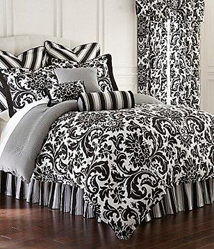 rose tree symphony damask u0026 houndstooth cotton sateen reversible comforter set