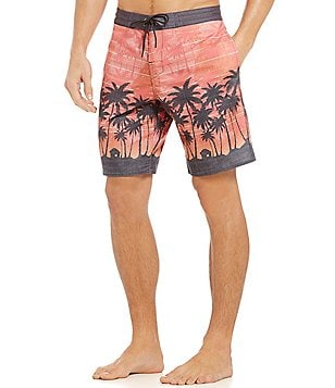 Roundtree & Yorke Printed Palms Board Shorts