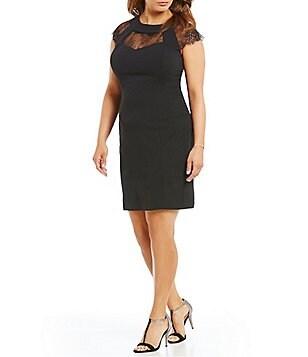 Plus size classic black dress