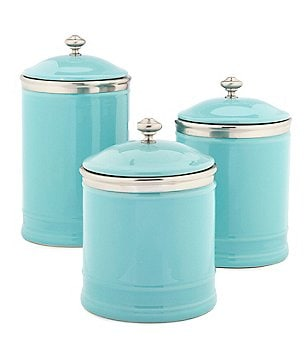 Great Southern Living Citrus Statements Collection Ceramic Canister With Lid
