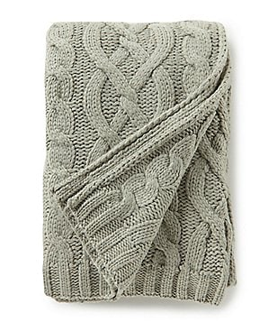 Southern Living Holiday Lux Collection Sutton Cable Knit Throw