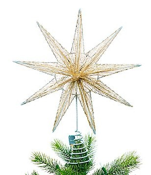 southern living homestead holidays snowflake star tree topper - Christmas Tree Tops