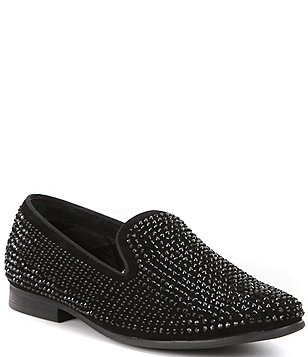 Steve Madden Men's Caviarr Crystal Embellishment Slip-On Loafers