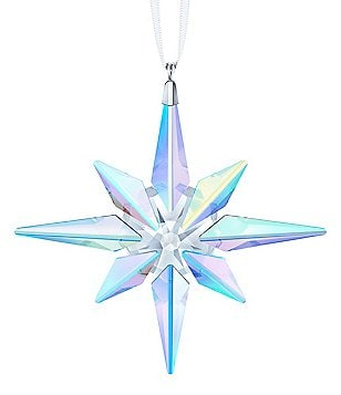 swarovski crystal 2018 aurora borealis star christmas ornament - Crystal Christmas Decorations