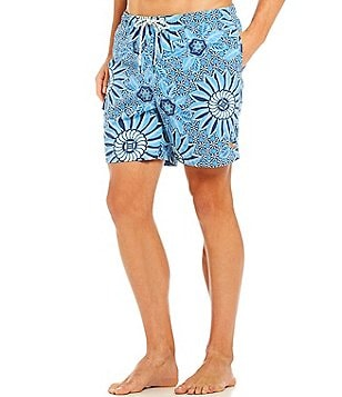 Tommy Bahama Naples Sun Dial Isle Printed Micro Twill Cargo Swim Trunks