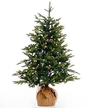 trimsetter 4 ft pre lit burlap wrapped christmas tree - Christmas Tree Plant