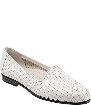 Liz Woven Leather and Patent Block Heel Loafers XZxZJ77E