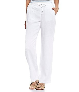 Two by Vince Camuto 4-Pocket Wide Leg Linen Pants