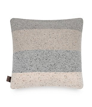 UGG® Jumper Colorblocked Tweed Square Feather Pillow