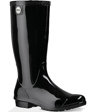UGG Womens Shaye Rubber Shearling Lined Glossed Waterproof Rain Boots