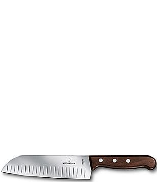 Victorinox Swiss Army Rosewood Santoku Knife With Granton Blade