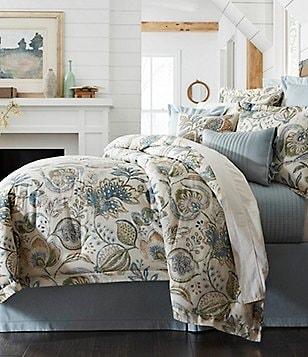 Villa By Noble Excellence Salsera Floral Jacobean Sateen Comforter Mini Set