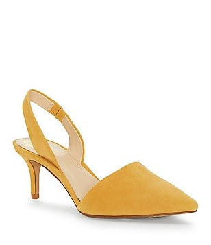 Esperance Denim Ankle Strap Pointed-Toe Pumps 9tBvie7n