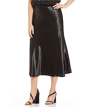 plus-size mid-length skirts | dillards