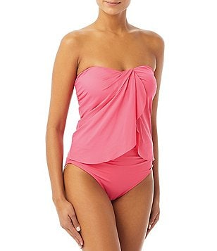 Vince Camuto Shore Shades Draped Bandini Top & Convertible High Waist Bikini  Bottom Swimsuit