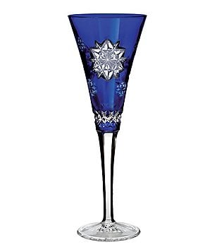 waterford snowflake wishes friendship crystal flute
