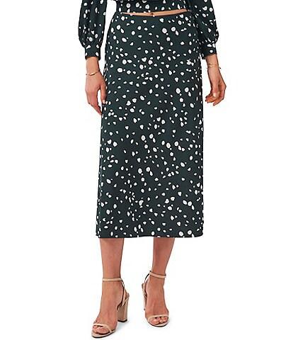 1. STATE Animal Dots High Waisted Midi Skirt
