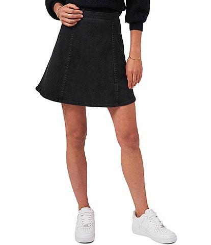 1. STATE Denim High Rise Skater Skirt