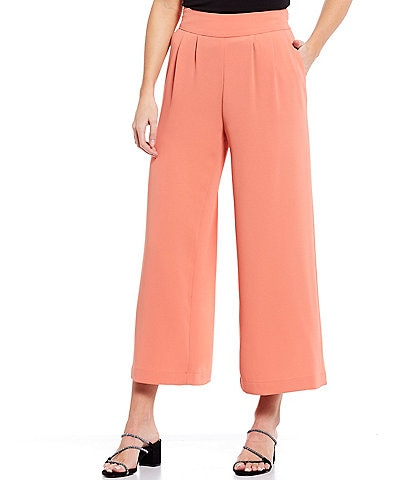 1. STATE Crepe Wide Leg Cropped Pants