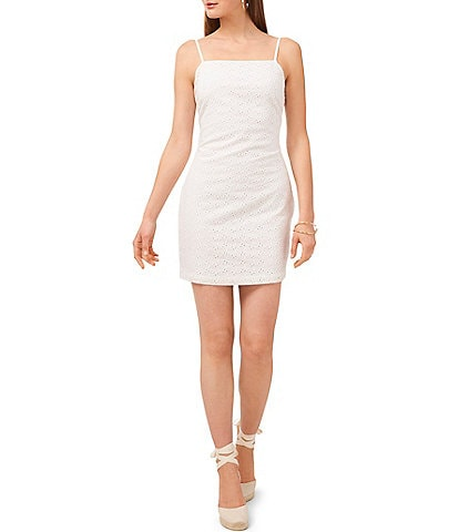 1. STATE Eyelet Spaghetti Strap Bodycon Mini Dress
